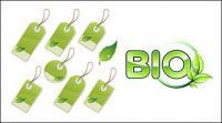 Vetor de material marca folha verde
