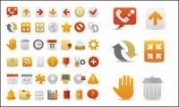 Набор красивых веб дизайн декоративные значок