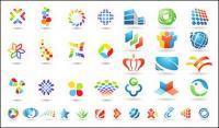 Un certain nombre de documents graphiques de logo modèle vectoriel