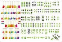 Umweltschutz-Tags mit Vektor-Grafik-material