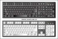 絶妙なキーボードのベクター素材