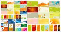 Variedad de material de vectores de tarjeta comercial