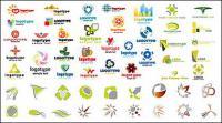 Variedad de material de logotipo de gráficos de vectores