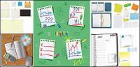 Variedad de vectores de material de papelería