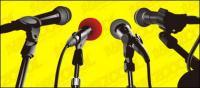 Mikrofon-Vektor-material