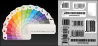 Цвет бумаги карта с штрих-кода векторного материала
