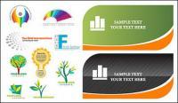 Kartu dan logo template vektor bahan