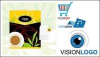 Tee für Verpackung und Logo Vorlage der Vektor-material