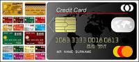 Matériau de vecteur de modèle de carte de crédit multiples