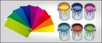 Vecteur peinture et la couleur en carton matériel