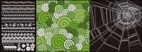 Spider Web Spitze mit der Muster-Vektor-material