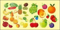 Variété de matériel de vecteur de fruits