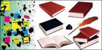 本ポイント ベクター素材のノートをインクします。