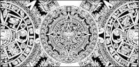 Классическая таинственный циркуляр шаблон векторного материала
