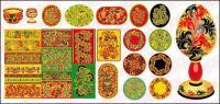 28 の古典的なパターン ベクトル材料とコンテナー