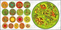 serie de patrón clásico vector material -4 - patrón circular