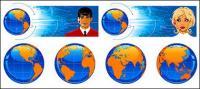 El material de Ciencias de la tierra y el Vector de apoyo de tecnología