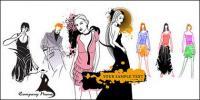 Mujeres de moda de vectores