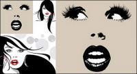 女性素材のベクトル イラスト
