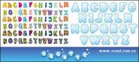 lindos letras del alfabeto vector de material