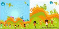 สนุกสำหรับเด็กอายุต่ำกว่า 2 illustrator ได้เวกเตอร์วัสดุ