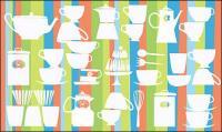 Matériel de référence pour le vecteur belle vaisselle