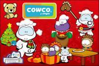 lucu kartun karakter Cowco Natal vektor subjek bahan