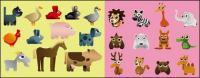 Variedade de desenhos animados animais vector material
