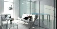 3 D の明るい応接室画像素材