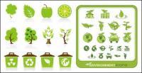 verde icono material de vectores