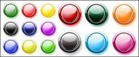 Plusieurs boutons couleurs Crystal tour vecteur matériel