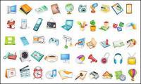 Elementos útiles usados icono material de vectores