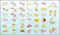 Cute icon vector material goods-2