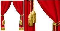 Material de cortina Roja de vectores