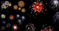 Colorful fireworks vector material