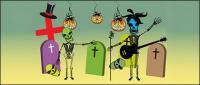 Скелет музыки производительности векторного материала