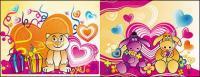 El tema del material de vectores de dibujos animados de amor