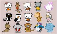Cartoon animais vector 2 material