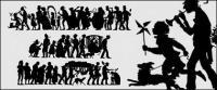 Klassische Menschen Silhouette vektor-material
