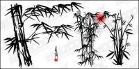 Вектор чернила бамбуковые материалы