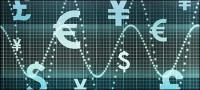 通貨の動きの画像素材