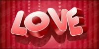 Трёхмерный вектор материал любовь