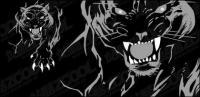Panther féroce vecteur matériel