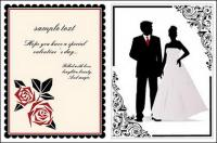 レースの結婚式のベクター素材