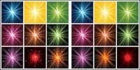 Многоцветным света радиоактивного материала вектор