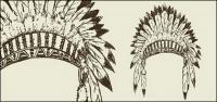 Matériau de vecteur de chapeau tribal antique