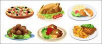 Essen im Western-Stil Vektor-material