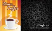 Ligne et en arrière-plan café désordre vecteur matériel