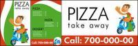Imagen de vector de tienda de pizza de un material de plantilla simple