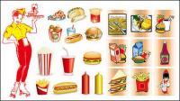 Fast-Food-Vektor-material